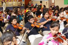 The Moxie Strings workshop, clinic, and concert.