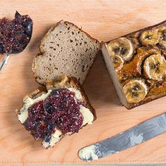 Try this Cinnamon Banana bread with Chia Jam recipe by Chef Jasmine and Melissa Hemsley . This recipe is from the show Hemsley   Hemsley - Healthy