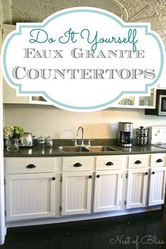 DIY faux granite countertops!  via @Brandi - Nest of Bliss