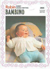 Robin 2909 baby matinee coat vintage knitting pattern
