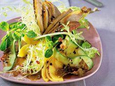 Salade met mango en eendenborst