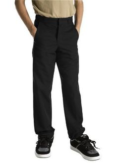 Dickies Boys' Classic Flat Front Pant (Little Boy, Big Boy, & Slim Sizes)…