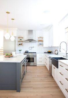 Cozy Kitchen, Home Decor Kitchen, Kitchen Furniture, Kitchen Interior, New Kitchen, Home Kitchens, Kitchen Design, Kitchen Ideas, Kitchen Island