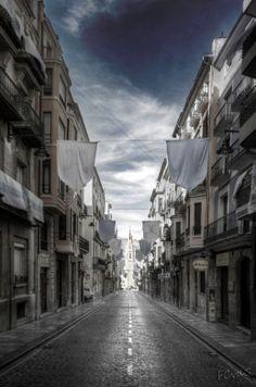 Wat een rust in de straten van Alcoy, Spanje.