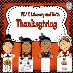 This PK/K Thanksgiving Literacy and Math unit is full of Thanksgiving themed center activities and worksheets for your PK/K students.  91 pages of fun and learning!This unit includes the following activities     Word Wall Cards     Spin a Syllables     Making Words    Initial Sounds      Counting Objects 1-10     Color by Number     Sequencing     Compare and Contrast     Write the Room     a template for a Class Book     Pin the PictureThank you for visiting The Fun Factory.