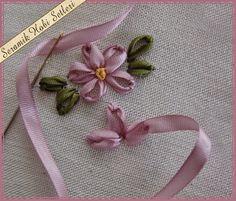 Como fazer a folha de bordado com fita passo a passo