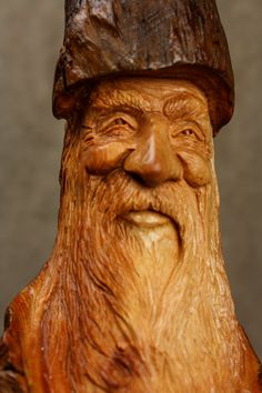 Wood Carving Wood Spirit Gnome Elf Wizard a by TreeWizWoodCarvings, $100.00