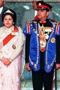 Nepal's King Gyanendra and Queen Komal