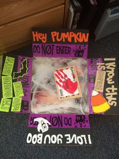 Care package for boyfriend on a mission, halloween themed