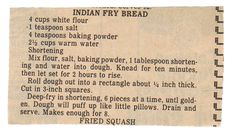 Traditional Indian Fry Bread Recipe | American Indian Fry Bread