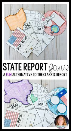 Students have fun with this alternative to the classic state report! Kids research the United States, take notes, and apply their learning onto these engaging and interactive fans! Standards-based and ideal for centers, social studies time, and practicing beginning research, your third graders, fourth graders, and fifth graders will love them.