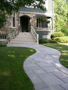 Inviting Bluestone Walkway