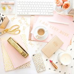 3 Ways to Turn Your Work Space Into Desk Goals ❤ liked on Polyvore featuring backgrounds and pictures