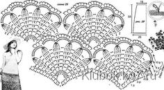 Crochet Patterns Diagram A tunica crosetata recommended for summer season, easy, lighter sourdough and ch. Filet Crochet, Crochet Shawl Diagram, Beau Crochet, Crochet Tunic Pattern, Mode Crochet, Crochet Borders, Crochet Stitches Patterns, Crochet Blouse, Crochet Chart