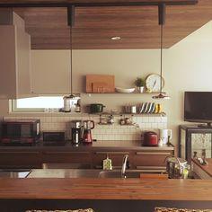 Kitchen/IKEA/スツール/カウンターキッチン/くつろぎ空間/下がり天井...などのインテリア実例 - 2017-07-23 03:48:14 | RoomClip (ルームクリップ)