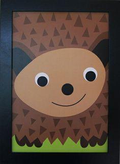 Print Hedgehog. Design Sara Vestberg