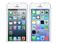 A Side-By-Side Photo Comparison Of Apple's iOS 6 And iOS 7