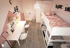 Pokoje dla nastolatków młodszych i najmłodszych - Średni pokój dziecka dla dziewczynki dla rodzeństwa dla malucha, styl skandynawski - zdjęcie od ELEMENTY