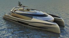Ego Catamaran yacht designed by Mauro Giamboi, has three decks and measures long with a beam of Yacht Design, Boat Design, Super Yachts, Yacht Luxury, House Yacht, Power Catamaran, Float Your Boat, Love Boat, Yacht Boat