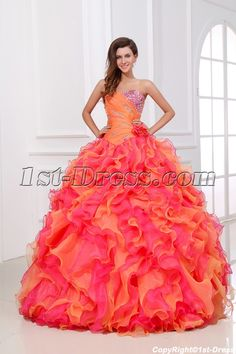 Luxury and Colorful Princess Quinceanera Dress 2014 $245.00