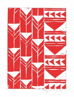 SALE Abstract Geometric Tribal Triangles Art Block Print 5 x 7 Home Decor / Silver or Gold / Hand Pulled Linocut / Gift Triangle Art, Triangle Pattern, Paisley Pattern, Tribal Art, Geometric Art, Geometric Patterns, Block Printing Designs, Linocut Prints, Art Prints