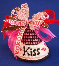 Finished kiss for Two's Company Needlepoint - a Barbara Bergsten Canvas