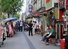Itaewon - shopping area in Seoul, Korea          Spent many hours shopping here!  What a great time!!!!