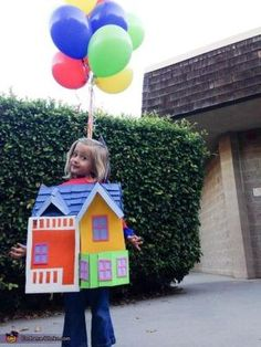Create an UP house costume using a cardboard box with this tutorial from Rain Blanken, your costume and DIY Fashion expert.: UP House Costume