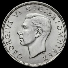 1945 George VI Silver Half Crown, AU