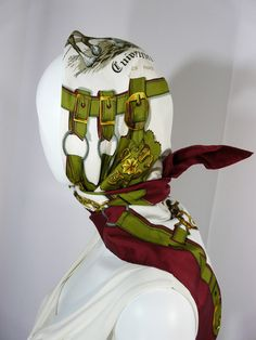 Authentic Vintage Hermes Silk Scarf Cuivreries