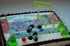 Cake, Periodic Table of the Elements, Science Cake