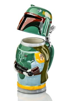 A beer-drinking jug (Stein) based on the character Boba Fett!