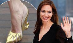 Angelina Jolie promotes Maleficent in Shanghai wearing custom Christian Louboutin heels