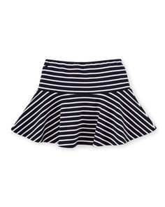Striped Flared Ponte Skirt - Girls 2-6X Dresses & Skirts - RalphLauren.com