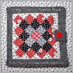 bitty bits & pieces: Great Granny Needle Book (so, sew cute)