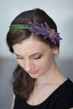 Lawendowy - HappyLazy - Kwiaty do włosów