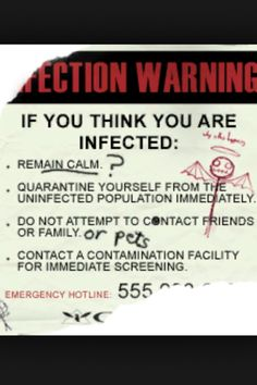 Instructions for the Infected
