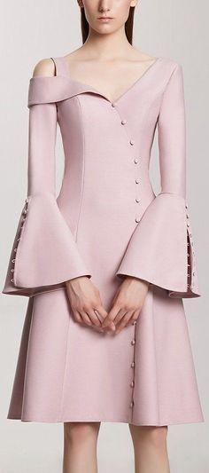 Button-Embellished Bell-Sleeve Dress  Low Stock  Elegant Dresses 9070cbb4f
