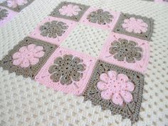 Crochet Pattern Easton Baby Afghan Blanket by PeachtreeCottage
