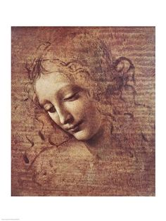Da Vinci - Head of a Young Woman with Tousled Hair