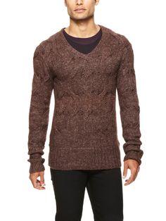 John Varvatos Cable Knit Sweater