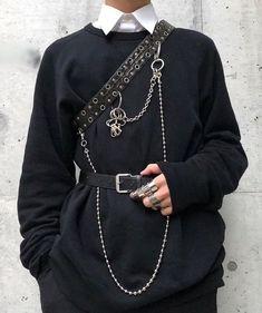 Pin by luke wilson on men's fashion in 2019 Grunge Outfits, Edgy Outfits, Mode Outfits, Grunge Fashion, Gothic Fashion, Asian Fashion, Fashion Outfits, Style Grunge, Grunge Goth