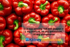 Red bell peppers are low in potassium and high in flavor, but that's not the only reason they're perfect for the renal diet.