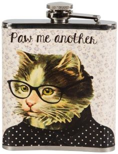 Paw Me Another Cat Ladies Hip Flask