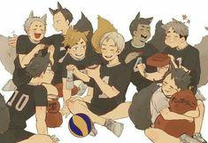 Just a tons of Haikyuu photos. ©Credit to all the artist! Haikyuu Manga, Haikyuu Funny, Haikyuu Fanart, Haikyuu Volleyball, Volleyball Anime, Kagehina, Kuroo, I Love Anime, Anime Guys