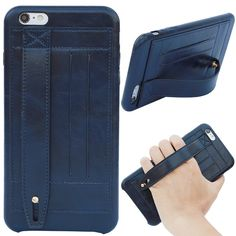 iPhone Case, iPhone 6 Case, iMangoo Premium Leather Hand Grip Strap Cover iPhone 6 Belt Wallet Case Card Slot Holder Slim Case Bumper Shockproof Kickstand Armor Shell for Apple iPhone 6 Iphone 6 Plus Case, 6s Plus Case, 6 Case, Sleeves Are For Nerds, Leather Phone Case, Leather Wallet, Tattoo Cover Sleeve, Men Accesories, Mobile Covers