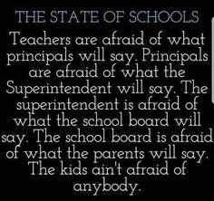 The parents are afraid of what the students will say. That is where it all breaks down. Teacher Humour, Teacher Hacks, School Quotes, School Humor, Classroom Humor, Teaching Memes, Teacher Boards, Funny True Quotes, Education Humor