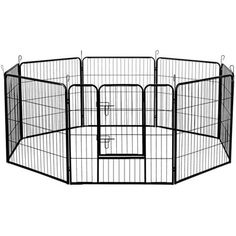80 x  80cm - 8 Panels Pet Dog Exercise Playpen at CrazySales.com.au - The durable Metal Dog Playpen features multi-configuration which allows you  to configure your playpen into different shapes.