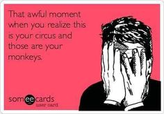 OH NO!!!  It IS my circus and monkeys