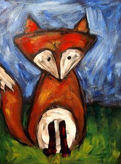 What does the fox say..? painterspaletteutah.com